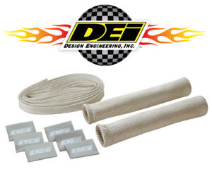 Dei 010702 Protect a boot Wire Kit Silver Plug Wire Heat Insulation 8 Pack