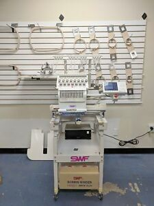 Swf T1501c Commercial Embroidery Machine 15 Needle Single Head