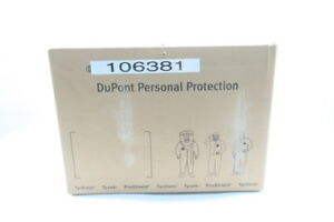 Box Of 25 New Dupont Ty127swh4x002500 Tyvek 4x White Hooded Coverall
