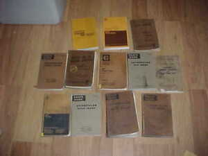 12 Different Caterpillar Marine Engine Grader Tractor Parts Operators Manual Lot
