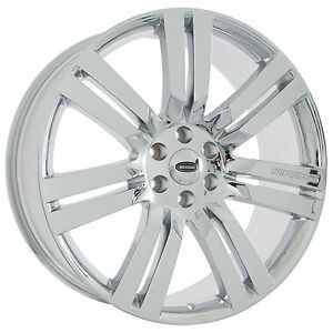 Set Of New 24 Chrome Marcellino Wheels Rims Ford Expedition Lincoln Navigator