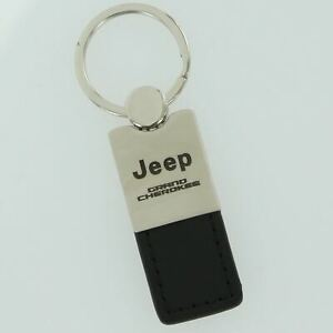 Jeep Grand Cherokee Black Leather Key Ring