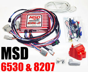 Msd 6530 Ignition Box Msd 6al 2 Digital Cd Programmable Rev Limiter W 8207 Coil