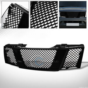 Fit 05 08 Nissan Frontier pathfinder Glossy Black Mesh Front Bumper Grill Grille