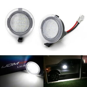 White Full Led Side Mirror Puddle Lights For Ford F150 Edge Flex Taurus Etc