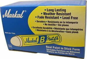 Markal B Red Solid Paint Stick Marker Tire Crayon 12 Box