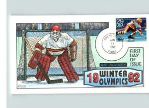 Hand Painted Set of 4 OLYMPIC Winter Games Ice Hockey Ice Skating Skiing Spe