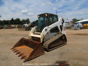 2012 Bobcat T190 Skid Steer Track Loader Cab A c Heat Aux Hyd Digital Dash