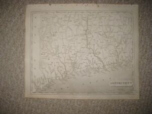 Antique 1805 Connecticut Arrowsmith Lewis Copperplate Map Fairfield County Rar