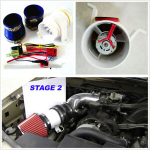 Diy Turbo 5000 Car Suv Electronic Turbocharger Electric Turbine Supercharger Kit