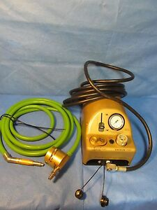 Medtronic Midas Rex Legend V03 Pneumatic Drill With Hose And Foot Pedal