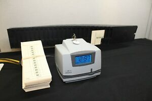 Pyramid Time Clock digital lcd 3500 Expanding Card Rack 200 Time Cards