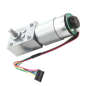 24v 16rpm Electrical Speed Reducer Dc Gear Motor With Encoder High Torque