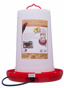 Heated Chicken Waterer Poultry Fountain 3 Gallon New