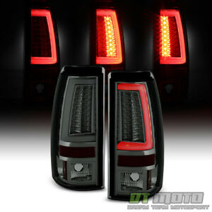 Smoke 1999 2002 Chevy Silverado 1500 99 06 Gmc Sierra Led Tube Tail Lights Lamps
