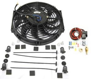 12 S blade Heavy Duty Electric Radiator Cooling Fan Thermostat Relay Kit
