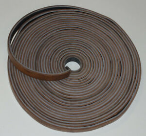 Vintage Unused 50 ft Leather Machine Belt 1 Wide Double Thick 2 Colors New
