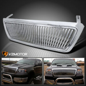 2004 2008 Ford F150 F 150 Chrome Vertical Front Replacement Grill Grille Abs
