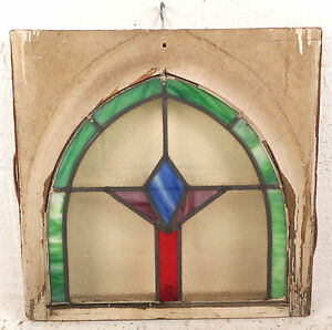 Vintage Art Deco Stained Glass Window Panel 3168 Nj