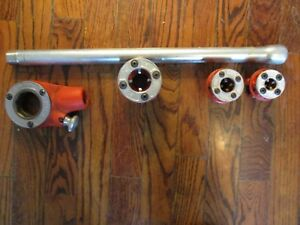 Ridgid Ratchet With 3 Piece Die Heads