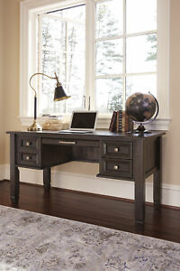 Ashley H636 27 Townser Traditional Home Office Desk In Grayish Brown