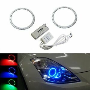 Rgb Led Headlight Angel Eye Halo Ring Kit For 06 09 Nissan 350z Lci Retrofit