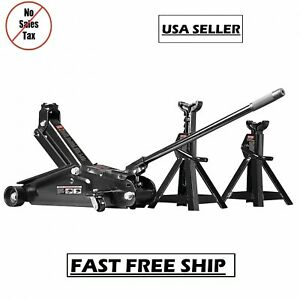 Craftsman 2 1 4 Ton Hydraulic Floor Jack Set 2 Jack Stands Auto Car Tool Garage