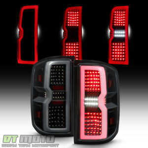 Blk Smoke 3d Sequential Signal 2014 2017 Chevy Silverado 1500 Led Tail Lights