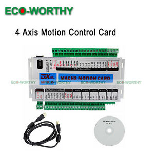 Mach3 Usb 4 Axis 2 Mhz Cnc Motion Control Card Control Breakout Board Lathe Tool