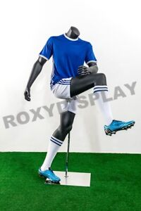 Male Fiberglass Headless Athletic Style Mannequin Dress Form Display mz tq4
