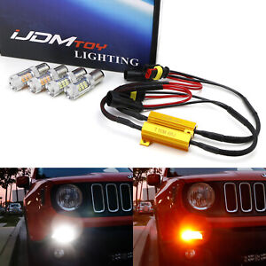 Led Drl turn Signal Lights W No Hyper Flash Fix Combo For 2015 19 Jeep Renegade