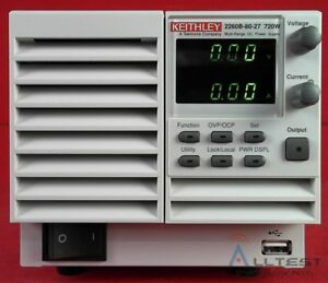 Keithley 2260b 80 27 Programmable Dc Power Supply 80v 27a 720w