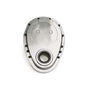 Edelbrock 4240 Aluminum Timing Cover Polished Small Block Chevy
