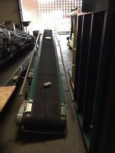 Rapistan 25 Powered Belt Conveyor With Forward reverse Good Shape Used Tl 3