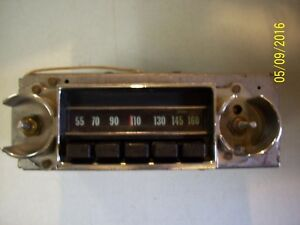 1968 68 Nova Am Push Button Radio Tested And Plays
