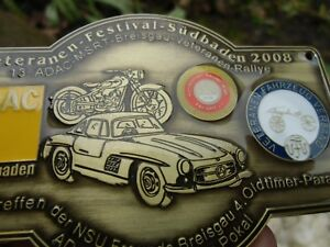German Car Badge Rally Mercedes Benz 300 Sl Gull Wing