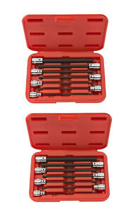 2 Pak Tekton 1362 3 8 Drive X Long Hex Allen Bit Socket Set 1 8 3 8 7 Pc