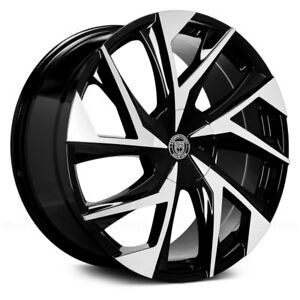 28 Lexani Ghost Machined Face W Black Accents 28x10 Wheel Set 28inch Rims