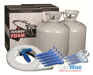 Handi foam 1200 Bf Closed Cell Spray Foam Insulation Kit 2 Kits 1 Gun hose