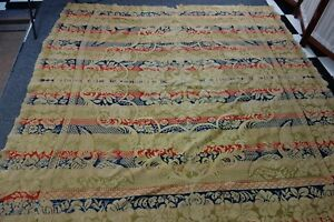 Victorian Jacquard Coverlet 74x79 Red Navy Green Eagles Stars Patriotic Sale
