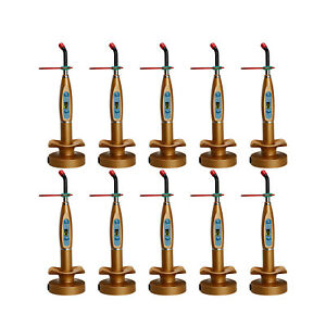 10x Golden Dentist Dental Wireless Cordless Led Curing Light Curing Lamp Tleg