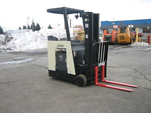 2006 Crown Dockstocker Forklift With 2014 Battery 3000 190 Lift side Shifter