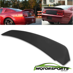 For 2005 2009 Ford Mustang Gt500 Ducktail Style Black Matte Rear Trunk Spoiler