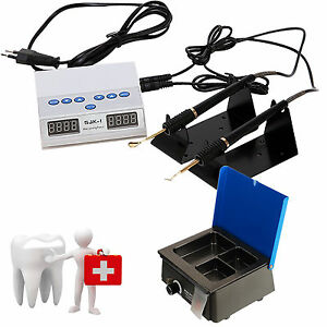 Dental Electric Waxer Carving Knife Double Pen Pencil Analog 3 Well Wax Heater