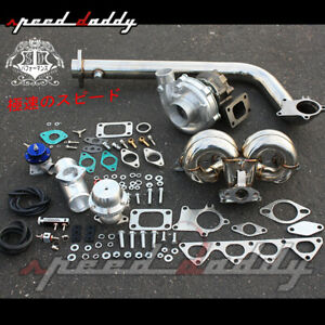 T3 T04e B Series Eg Db Dc Turbo Charger Racing Ram Horn Manifold Downpipe Kit