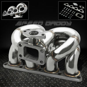T3 t4 Ram Horn Stainless Turbo Manifold Exhaust 88 00 D series D15 D16 Civic crx