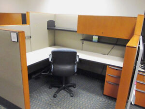 Used Office Cubicles Haworth Premise Enhanced Cubicles 6x6