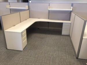 Used Office Cubicles Haworth Unigroup Too Cubicles 8x8