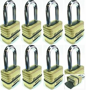 Combination Lock Set Master 1175lh lot 8 Resettable Long Brass Sealed Carbide