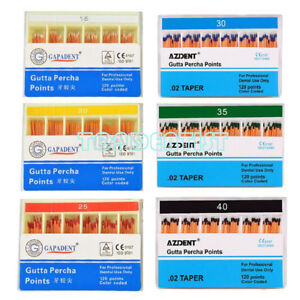 Azdent Dental Obturation Endo Gutta Percha Points Tips Refill Size 15 40